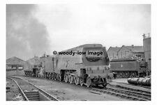 pt9022 - British Railway Engines no 35001 & 30841 @ Exeter 1954 - photograph 6x4
