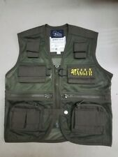 Child Park Ranger Vest Safari Explorer Zoo Keeper Cargo Vest Kids Size Md 8-10