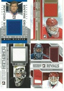 2013-14 IN THE GAME BETWEEN THE PIPES PATRICK ROY CHRIS OSGOOD RIVALS JERSEY