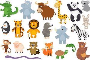 Animals Bedroom wall stickers Vinyl Graphics Baby Nursery Childrens Window