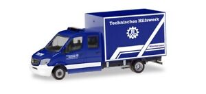 """Herpa 094559 Mercedes-Benz `13 Cabine Double Avec Valise """" THW, 1:87 ("""