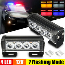 2x 12V 4 LED Grille Strobe Flash Light Warning Hazard Emergency Beacon Car Truck
