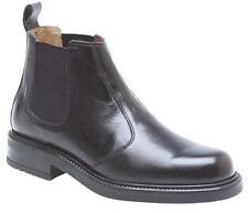 Mens Roamers Chelsea BOOTS Leather Black / Brown 6 - 12 Black UK 9