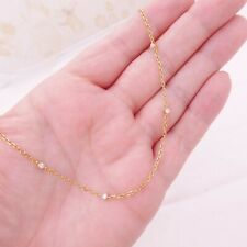 Collar de Cadena Diamante Oro 18ct 18k 750 MSK