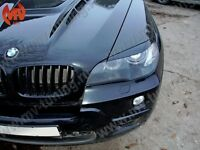MV-Tuning Front Eyelids Eyebrows Headlights Covers for BMW 3 E46 1998-2002