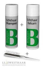 Bergmann parrucca CAPELLI VERI SET MANUTENZIONE Shampoo & Balsamo + SPAZZOLA