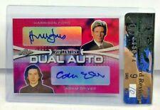 Harrison Ford / Adam Driver 2019 Leaf Metal Pop Century PINK Dual Autograph #1/3
