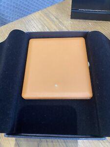 Dunhill Terracotta Leather Gilt Frame Slimline 10 Cigarette Case RRP £215