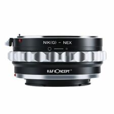 K&F CONCEPT Lens Mount Adapter Ring for Nikon G Lens Fit to Sony NEX E-Mount