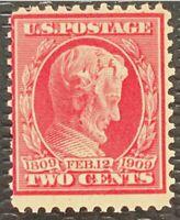 1909 US SC#367 2c Lincoln Mint NH/OG CV$9.5