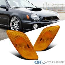 For 02-03 Subaru Impreza Amber Side Marker Corner Signal Turn Lights Lamps Pair