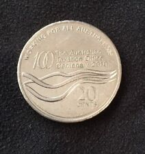 2010 AUSTRALIAN 20 CENT COIN - THE AUSTRALIAN TAXATION OFFICE ATO CENTENARY COIN