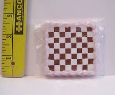 MINIATURE RETIRED RE-MENT FOOD CHECKERBOARD CAKE FOR DOLLS 1/6 SCALE LITTLES