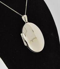 9ct White Gold Oval Locket (Free engraving)