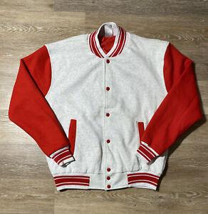 Vintage Fruit of the Loom knit varsity jacket size Large Red