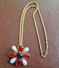"AVON VINTAGE ORIGINAL*29"" ROBE CHAIN MALTESE CROSS BROACH NECKLACE*NEW*OLD STOCK"