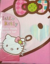Hello Kitty pink girls bedroom curtains