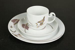 1 Kaffee Gedeck Rosenthal Asimmetria Goldblume Porzellan Service Neu