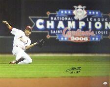 So Taguchi signed Cardinals 16x20 Photo Sliding (06 WS Champs) English/Japanese