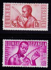 SPANISH  GUINEA  SCOTT# B25-B26 MH  MUSIC TOPICAL