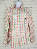 Tommy Hilfiger Womens Shirt Size 4 Plaid Button Up Long Sleeve Blouse Top Pocket