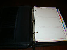 Day Planner/Organizer Black  Two Compartments  Used  Daily Notes, Addresses and
