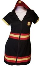 Halloween Costume Women Sexy Adult Dress Up Role Play 2 Piece Fire Chief Large