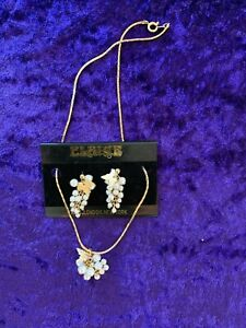 Bunch of Grapes (pearl style) 'Elaine' costume jewellery - necklace & earrings