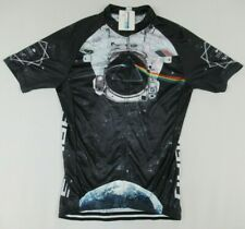 Nwt Strgao Pink Floyd Dark Side Moon Large Black Zip Up Cycling Top Pockets C335