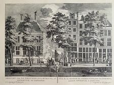 3 Dutch Etching Prints - Amsterdam scenes by Pierre Fouquet jr