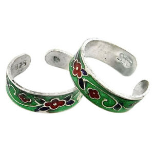 Solid 925 Sterling Silver Indian Handmade Fine Plain Silver Toe Ring Jewelry SR8