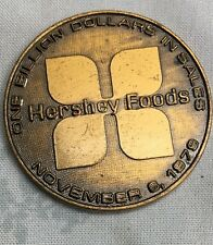 Hersey Foods 1979 Hersey PA One Billion Dollars In Sales Bronze Medal Coin