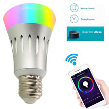 E27 WiFi Smart LED Light Bulb Phone Remote Works With APP& Amazon AlexaEcho