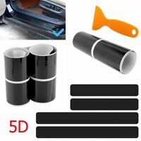 4x Carbon Fiber Car Scuff Plate Door Sill 5D Sticker Panel Protector Accessories