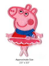Peppa Pig Ballerina Embroidered Iron and/or Sew On Patch
