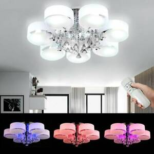 5 LED Crystal Ceiling Light Chandelier Lamp Kitchen Bed Modern Living room Light