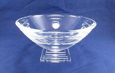 """Waterford Crystal METROPOLITAN Art Deco Footed Bowl - 6 5/8"""""""