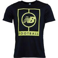 New Balance Mens Elite Tech Graphic Logo Black T-Shirt (Size's M L XL XX-L) NEW