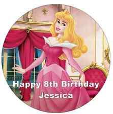 "Disney Princess Sleeping Beauty Personalised Cake Topper Edible Wafer Paper 7.5"""