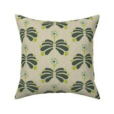 Tan And Green Mint Green Khaki Throw Pillow Cover w Optional Insert by Roostery