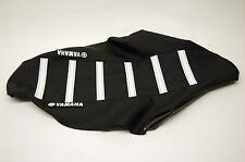 New Yamaha Logo Seat Cover Black/White Ribs YZ250F 2010-2012