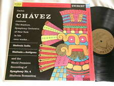 CARLOS CHAVEZ Sinfonia India Sympnony No. 1 & 4 Everest Gold label stereo LP