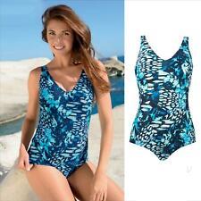 Naturana Damen Control gepolsterter Badeanzug 73061 Aqua Blue 022