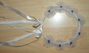 Child Renaissance Headwreath Princess Headpiece White & Purple