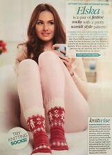 KNITTING PATTERN Ladies Scandinavian Fair Isle Christmas Socks 4 Ply PATTERN