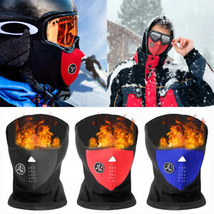 Winter Ski Half Face Mask Motorcycle Thermal Fleece Neck Cover with Ear Warmer