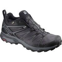 Salomon Men's X Ultra 3 GTX Waterproof Hiking Trail Shoes - Black/Magnet