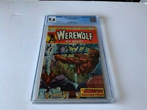 WEREWOLF BY NIGHT 20 CGC 9.6 WHITE PAGES MARVEL COMICS 1974