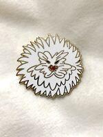 Alice In Wonderland Golden Afternoon Flower Fantasy Disney Pin - WHITE Dandelion