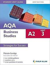 AQA A2 Business Studies Student Unit Guide New Edition: Unit 3 Strategies for Su